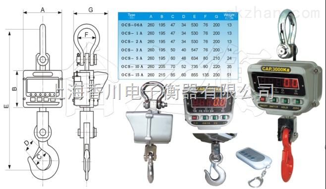 上海15吨直视电子吊秤