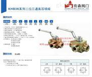 KHB3K型外螺纹液压高压三通球阀