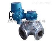 电动四通球阀 --图片--上海茸工阀门制造有限公司
