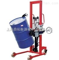 FCS100KG手动倒桶车秤,200KG带电子秤的油桶车
