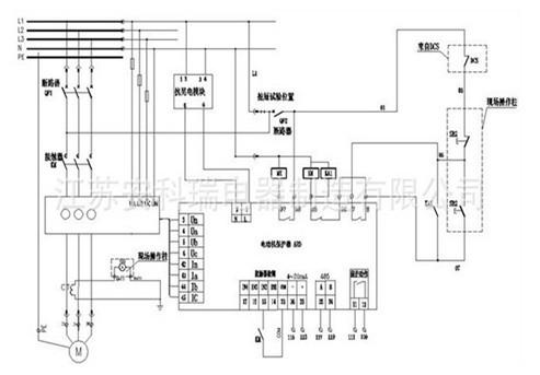 带电机综合保护器的自锁电路图