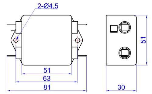 fdbd-10l 一级直流电源滤波器